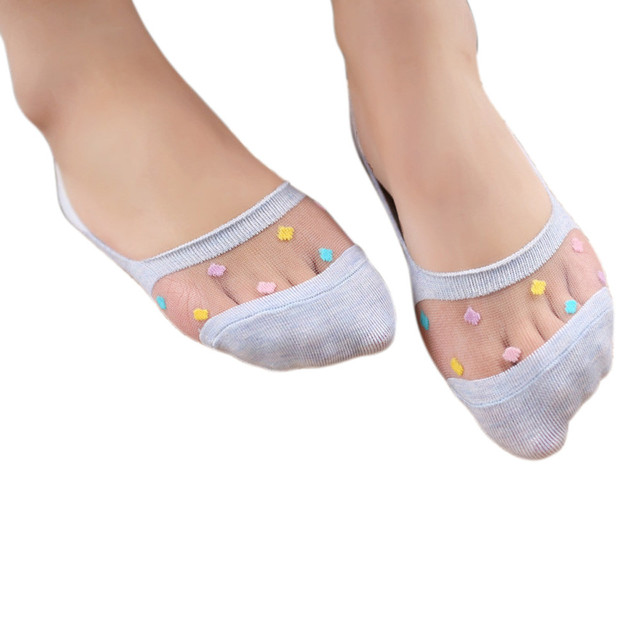 12Pairs Candy Color Women Socks Girls Cotton Chaussettes Low Cut No Show Socks Antiskid  Pilates Socks #ED