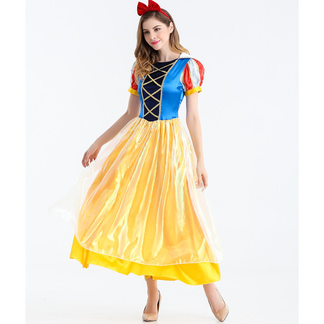 Halloween Women Snow White costumes Girl Princess Dress Stage Costumes S-XL any size