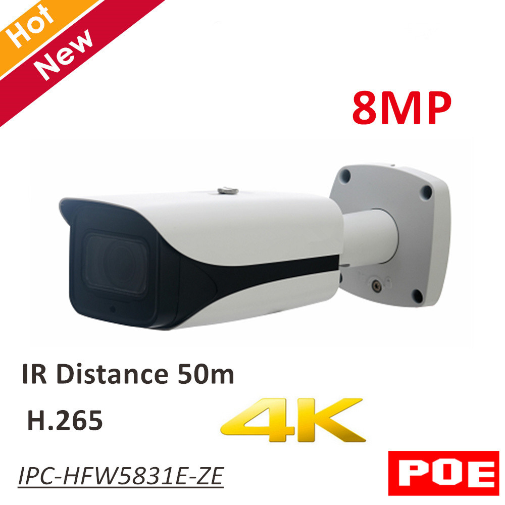 8MP DH POE IP Camera IPC-HFW5831E-ZE IR Bullet Network IP Camera H.265 Outdoor IP67 IR distance 50m 2.7-12mm motorized lens original km 8088 professional electric rechargeable hair trimmers mens kids hair clipper hair cutting machine hair cutter