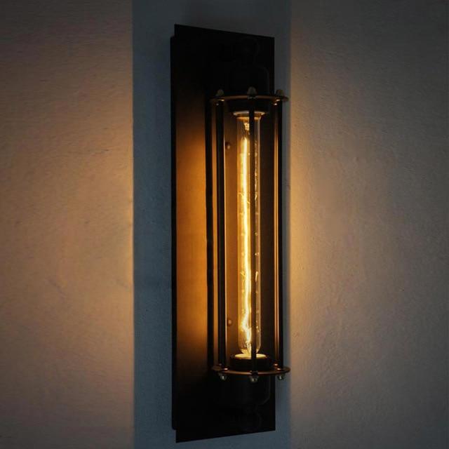 Novelty Test Tube Design Iron Black Sconce E27 Edison Industrial ...
