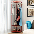 movable Commercial Grade metal Garment Drying Rack Clothes Shoe corner Organizer by fast shipping