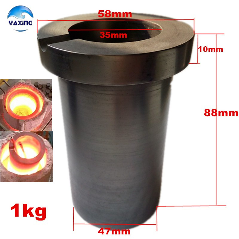1kg  crucible-graphite /refractory crucible/ casting crucible for metal melting high pure fine polished crucible