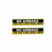 Volkrays 2 X pegatina de advertencia para coche sin AIRBAGS DIE LIKE REAL MEN pegatina reflectante para Audi A1 A3 A4 A5 A6 A7 Q3 Q5 Q7 RS3 RS5(China)