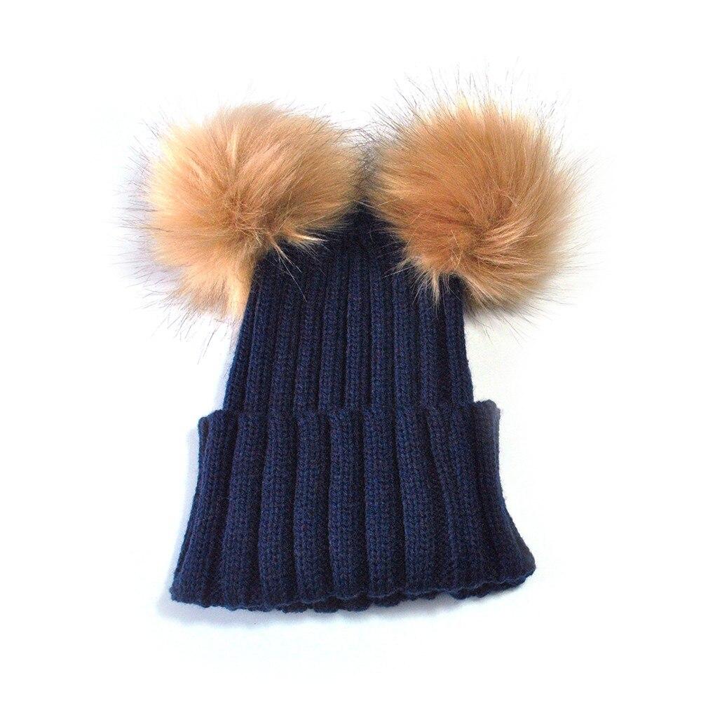 TELOTUNY Beanie Baby Hats cute Knit hat boys girls 3 -15 Years old bonnet caps children Winter C0419