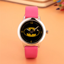 ot01 Hot Children Watch Kids Cartoon Batman Wristwatch Cool rubber Table Watches for Boy Girls