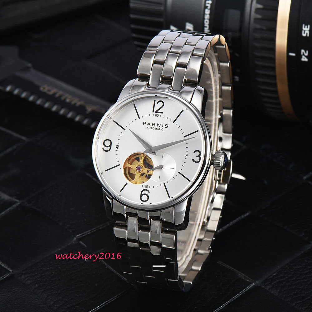 2018 top brand Luxury 38mm parnis Small Second Hollow Dial Stainless steel Sapphire Crystal Miyota Automatic movement mens Watch2018 top brand Luxury 38mm parnis Small Second Hollow Dial Stainless steel Sapphire Crystal Miyota Automatic movement mens Watch