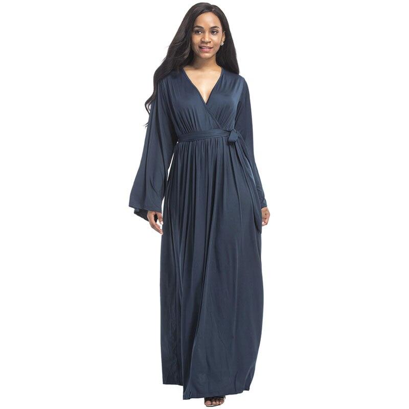 С v-образным вырезом поясом вечернее платье для беременных женская одежда с длинным рукавом Беременность леди Vestidos беременных Костюмы 2019