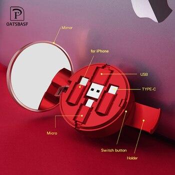 Dubbla USB laddare för telefon Snabb laddningsadapter Bärbar bäradapter Väggladdare till iPhone samsung Huawei