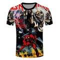 Anime Camiseta de Los Hombres 3D Camisetas Impresas Harajuku Estilo Iron Maiden Killers Carácter Camisetas Homme Nueva Moda de Manga Corta Camisetas