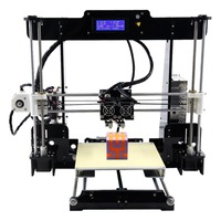 A8 M 3D Printer Dual Extruder Double Colors Printing Prusa i3 with Heated Bed High precisio Free Testing Filament US