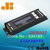 O envio gratuito de LED RGB Controlador DC12-24V Tensão Constante DMX512 Decoder & LED Driver 4 Canais PWM <3A Modelo: DE8032