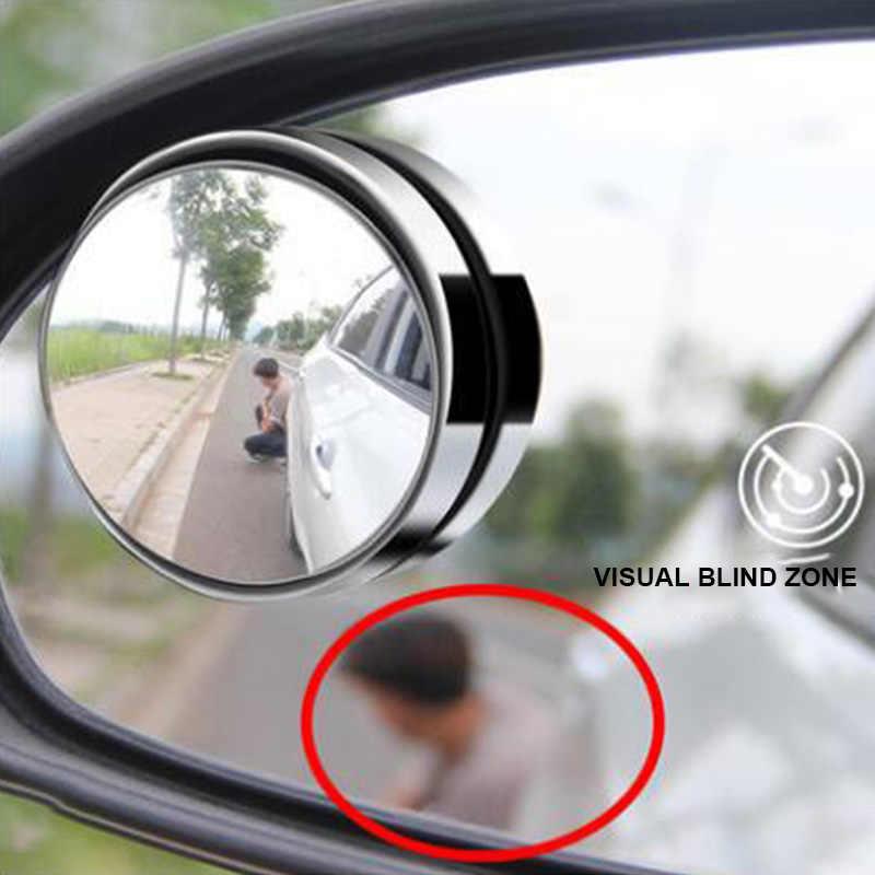 1 قطعة 360 درجة العمياء مرآة جانب السيارة مرآة زاوية واسعة جولة محدب صغير جولة جانبية Blindspot مساعد صف سيارة الرؤية الخلفية