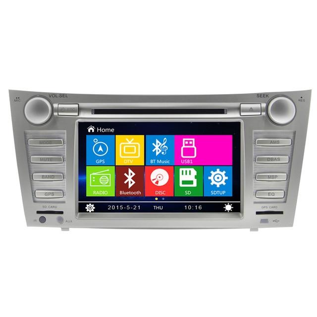 HD 8 Car DVD Player Radio Stereo GPS Navi SWC BT for Toyota Camry 2007 2011+ Cam