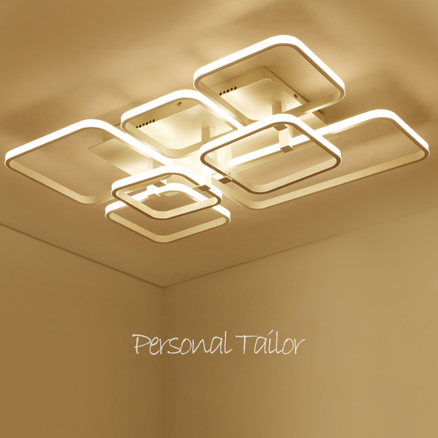2017 New modern led ceiling chandelier lights for living room bedroom square art Indoor acrylic Ceiling chandelier Lamp Fixtures