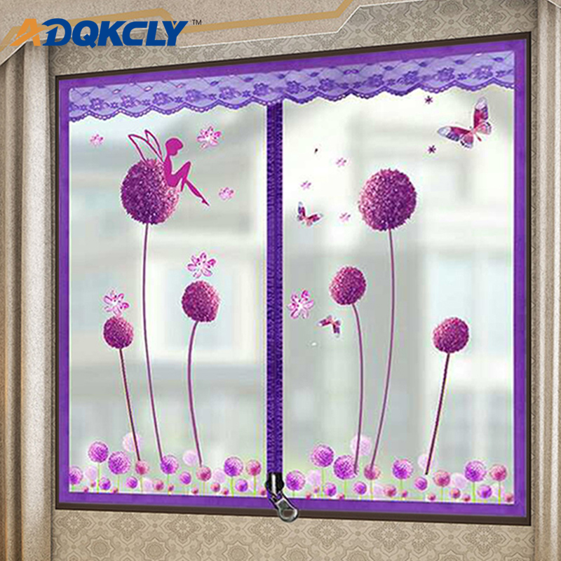 With Zipper Design Window Curtain Winter Windproof Anti-dust Thick Warm Window Screen