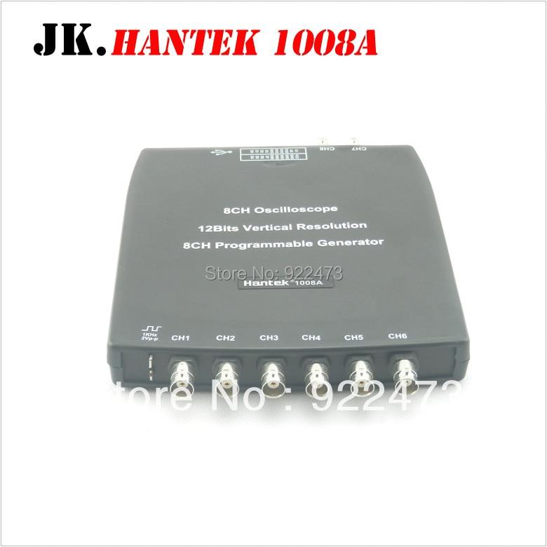 H047 Hantek1008A 8CH PC Oscilloscope/DAQ/8CH Generator 2.4MSa/s,12bits,10mV/div to 5V/div input sensitivity 1008A hantek1008a 8ch pc oscilloscope daq 8ch generator 2 4msa s 12bits 10mv div to 5v div