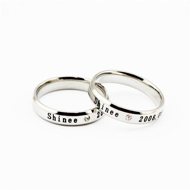 c7743a1a54ba Venta al por mayor KPOP shinee anillo de Plata de Los Hombres o de Las  Mujeres