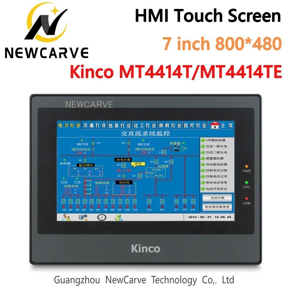 Kinco mt4414t mt4414te hmi tela sensível ao toque 7 Polegada 800*480 ethernet 1 usb host nova interface de máquina humana newcarve