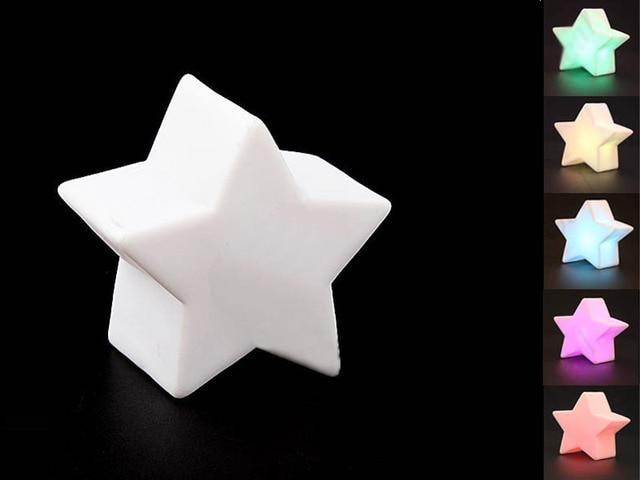 Free verzending iriserende vijfpuntige ster vormige grappige ...