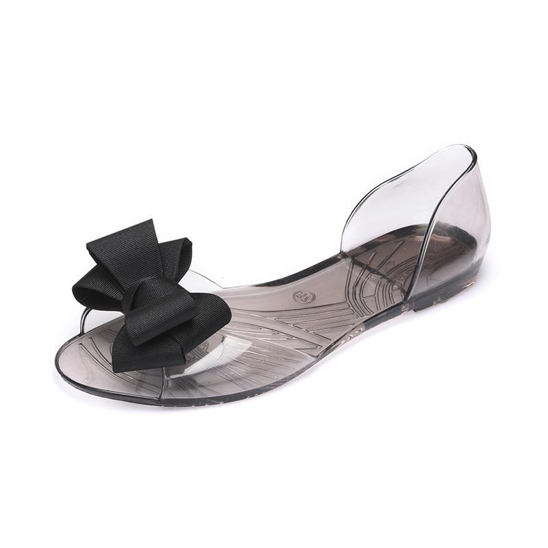Women Sandals Open Toe Summer Jelly Shoes Woman Fashion Butterfly knot Flat Sandals Women Beach Shoes Women Sandals Open Toe Summer Jelly Shoes Woman Fashion Butterfly-knot Flat Sandals Women Beach Shoes Slip On Flip Flops WSH3149