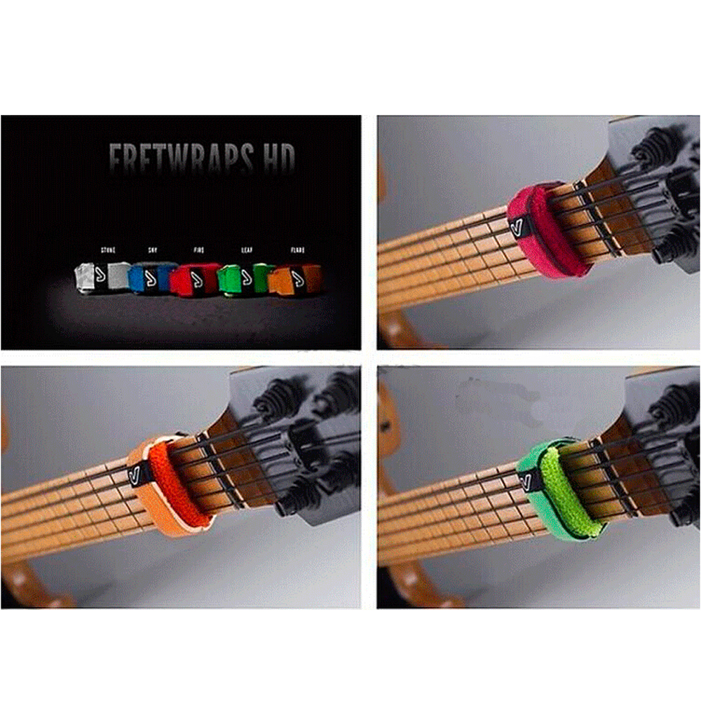free shipping gruv gear fretwraps bass guitar string dampeners electric guitar string mute. Black Bedroom Furniture Sets. Home Design Ideas
