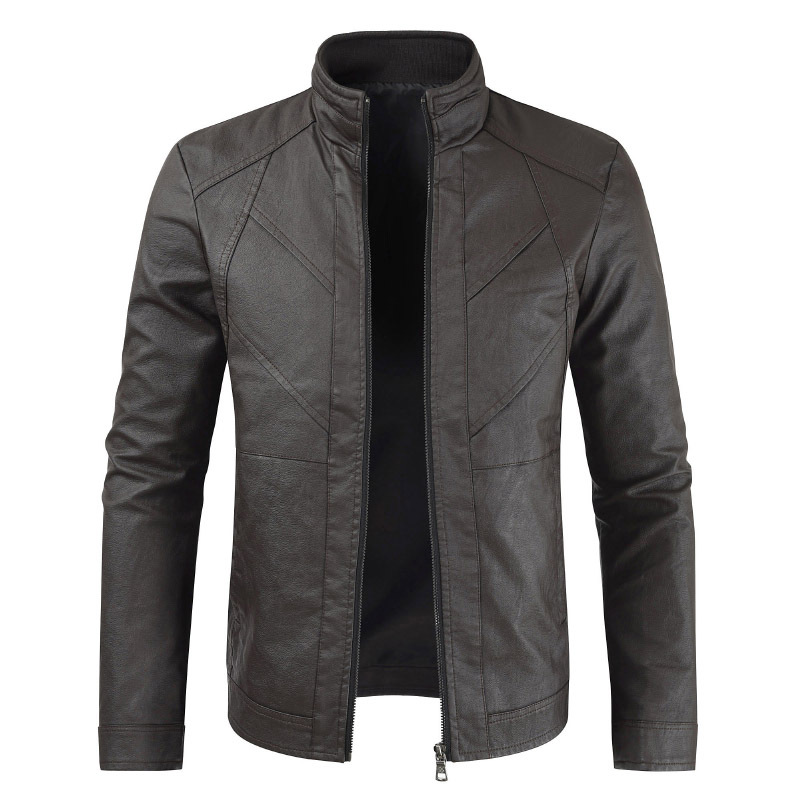 Men Leather Jacket Spring Men's Casual Stand Collar Motorcycle PU Leather Jacket Coat Outerwear Male Clothes Jaqueta De Couro