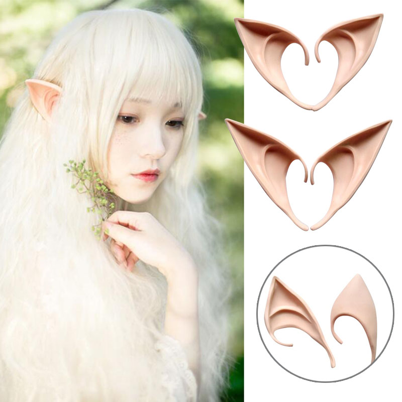 1Pair Costume Ear Elf Cosplay Holiday Accessories Tool Gadget Party Supply