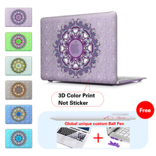 New 2016 2017 Crystal Hard Case For Macbook Pro 13 15 Touch bar Print Paisley Laptop Cover Air 11 12 Pro 13 15.4 Retina inch