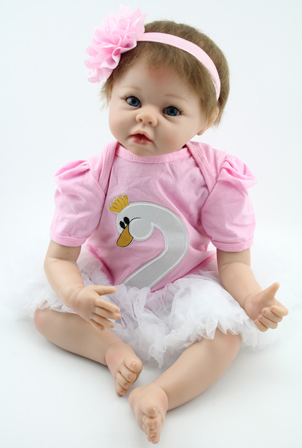 Silicone Lifelike Reborn Baby Doll For Girls Kawaii