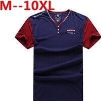 10XL 9XL 8XL 6XL Man'S T Shirt Solid Color Men Tshirt Double Button Fun Army Bodybuilding Mens Compression Short Sleeve Clothing