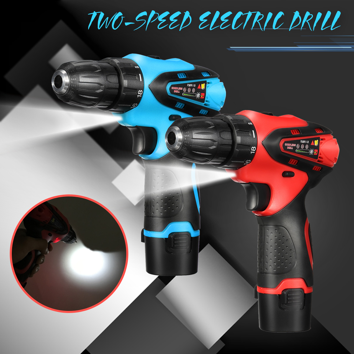 12V 680W Multipurpose Screwdriver 2 Speed Electric Drill Rechargeable Lithium Battery Electric screwdriver Power Tools free shipping brand proskit upt 32007d frequency modulated electric screwdriver 2 electric screwdriver bit 900 1300rpm tools