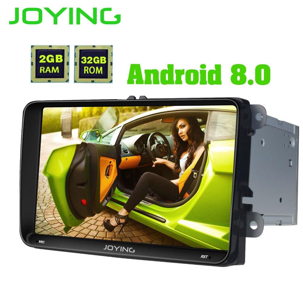 JOYING Octa core 2gb ram 32gb rom 8 core Android 8.0 Car Radio for Skoda SuperB stereo head unit with carplay for VW Golf Polo