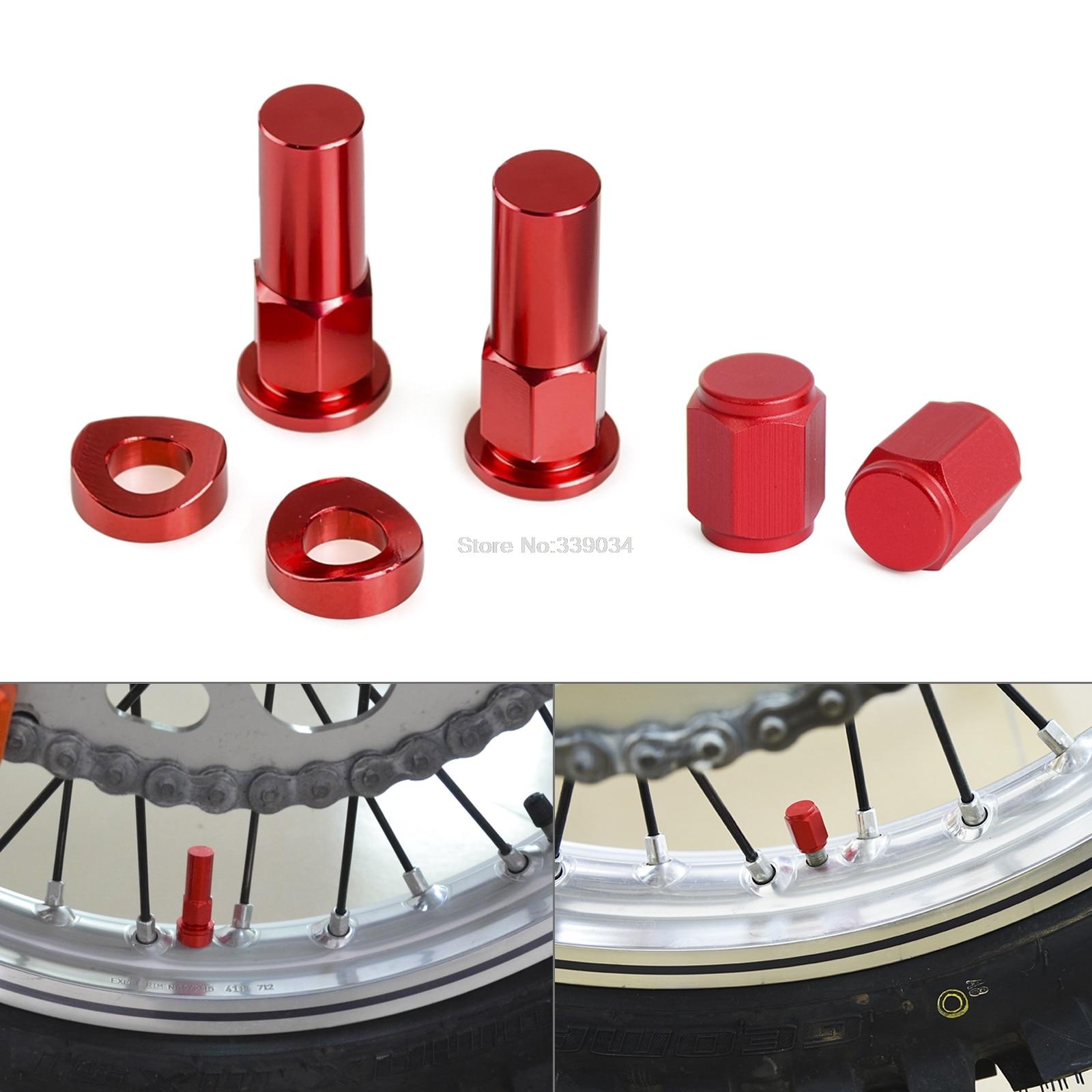 NICECNC Rim Lock Cover Nut Spacer Kit For Honda CR125R CR250R CRF125R CRF250R CRF450R CRF250L CRF250M Yamaha Suzuki Kawasaki