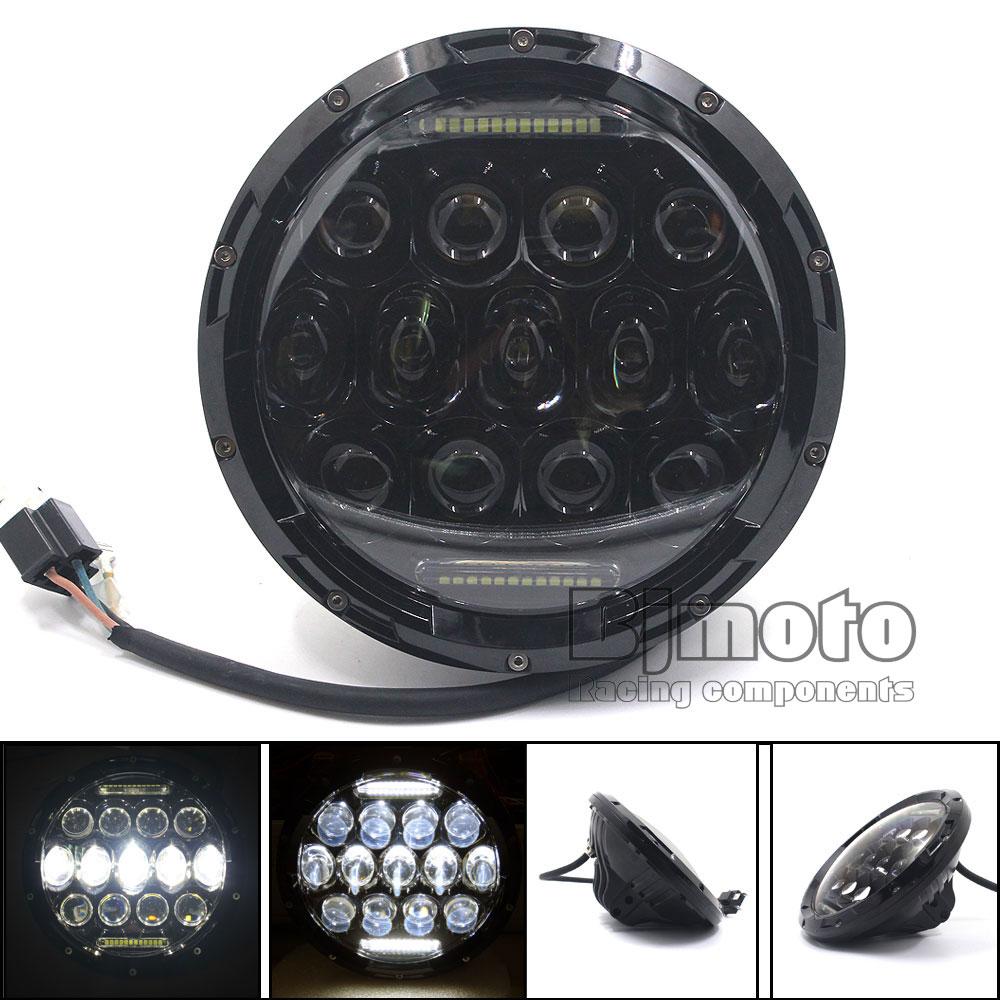 BJGLOBAL 2PCS 7 75W H4 LED Headlight 7500LM Hi/Lo Beam Headlamp with Bulb DRL for Jeep wrangler TJ LJ JK CJ-7 CJ-8 Scrambler