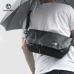 Водонепроницаемая поясная сумка из искусственной кожи на ремне, Мужская модная нагрудная сумочка-слинг, Повседневная дорожная сумка через ...