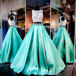 Maxi-Skirts Pleated Floor-Length Green Womens Mint Formal Chic Link No-Beading Party