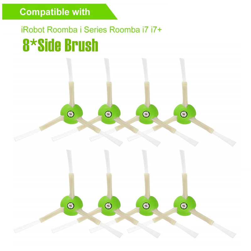 8-pack replacement parts for iRobot Roomba accessories side brush for iRobot Roomba e5 e6 i7 i7+ vacuum cleaner spare parts8-pack replacement parts for iRobot Roomba accessories side brush for iRobot Roomba e5 e6 i7 i7+ vacuum cleaner spare parts