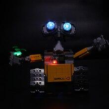 مصباح ليد ل ليغو 21303 متوافق 16003 فكرة روبوت الجدار E عيون ضوء وماض ألعاب مكعبات البناء (فقط ضوء + صندوق بطارية)