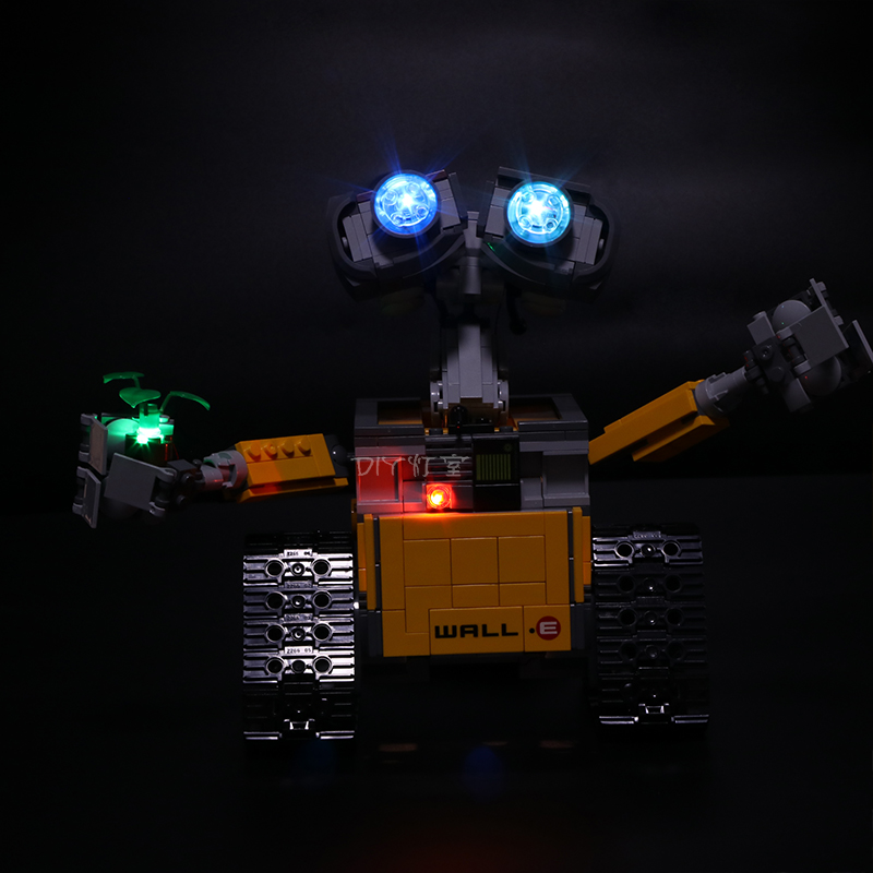 Led Light For Lego 21303 Compatible 16003 Idea Robot WALL E Eyes Flashing Light Building Blocks Toys (only light+Battery box)Blocks   -