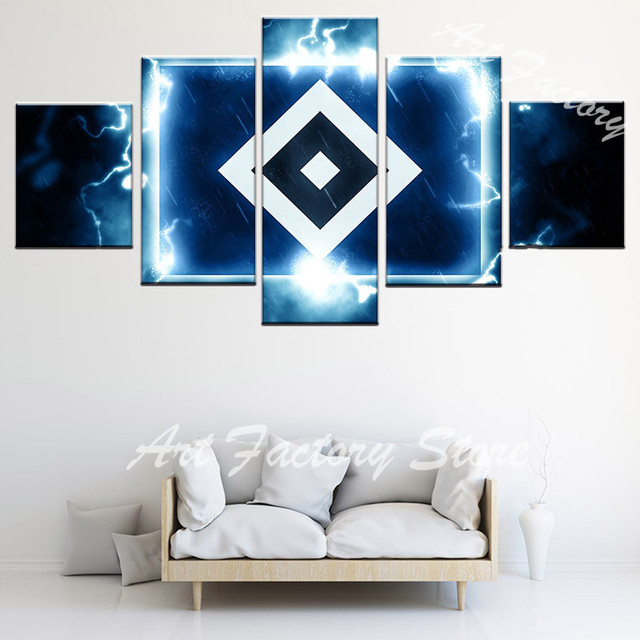 Creative Arts Icon For Thunder And Lightning 5 Pieces Canvas Painting  Picture Living Room HD Prints