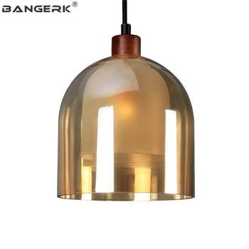 Bangerk креативный стеклянный деревянный подвесной светильник в стиле лофт современный светодиодный подвесной светильник домашний декор осв