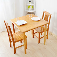 Bamboo Garden Style Square Table Assembly Square Table Table Table Table Table Small Learning