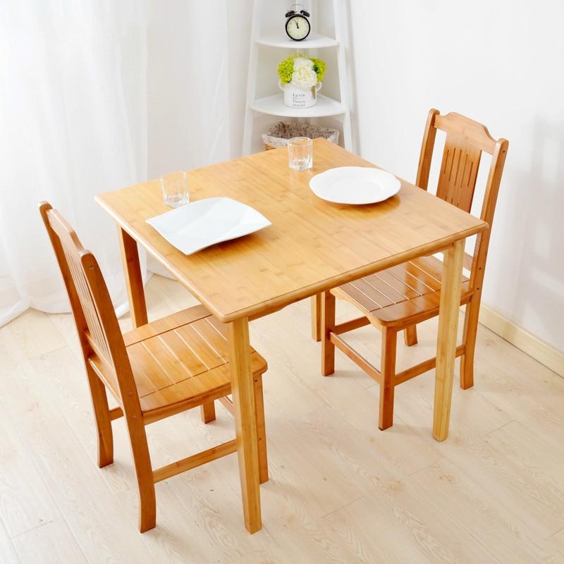 €334.62 20% de réduction Nouveau style de jardin en bambou table carrée  assemblage bureau carré petit apprentissage protection saine et ...