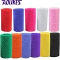 AOLIKES 1 Pcs 15*7.5 Wrist Brace Support Wrap Tennis Wristband Sport Sweatband for Gym Yoga Volleyball Hand Sweat Band polsband