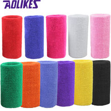 AOLIKES 1 Pcs 15*7.5 Wrist Brace Support Wrap Tennis Wristband Sport Sweatband for Gym Yoga Volleyball Hand Sweat Band polsband(China)