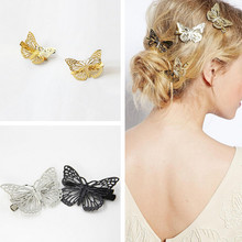 Get more info on the 2019 Fashion Women Girl  Shiny Golden Butterfly Hair Clip Headband Hair Accessories Headpiece Accessories    5.24DJL