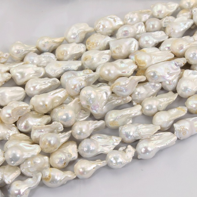 white on pearls nucleated giant pearl baroque best jewelry freshwater pinterest strand inch images bethsolka flameball