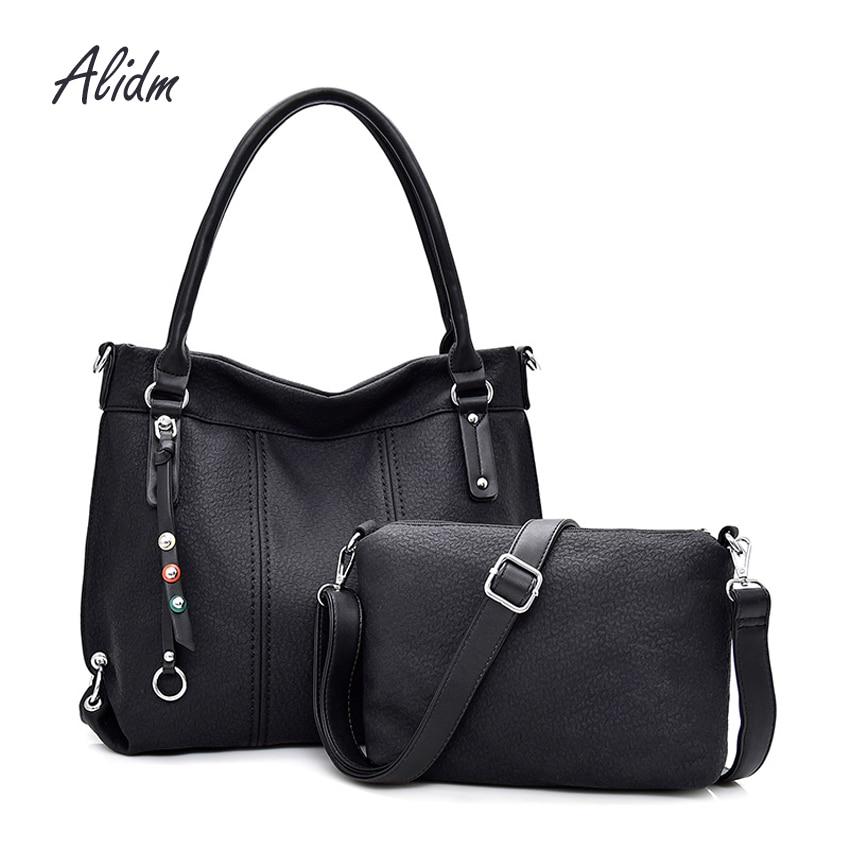 Women Handbag Leather Women Shoulder Bags 2 sets Famous Brand Designer Women Messenger Bags Ladies Casual Tote Bags sac a main mayoral кеды