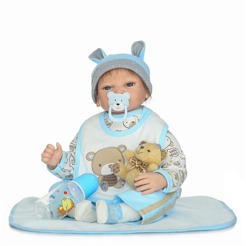 Silicone Simulation Baby Toys With Pacifier Bottle Christmas Holiday Gifts For Children Safe Bedtime Earl Education House Dolls new arrival without original box house kitchen cart barbecue kitchen cart simulation role playing best early education toys