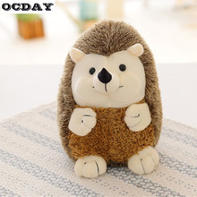 OCDAY 17CM Ty Beanie Boos Soft Hedgehog Plush Toy Doll Baby Girl Birthday Gift Stuffed & Animals Toys For Children Cotton